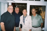 Bob Luckenbach, Bill Tawpash, Walt DePalma, and Phil LaBruto at dinner the night before the cruise