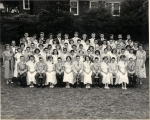The Totowa Boro graduating class-1953.  Front row: Ron Bauer, Gloria Roome, Herman Winschuh, Anne Acorn, Warren Visbeck,