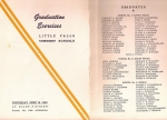 Little Fall Grammar School Graduation Program 6/18/53