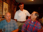 Bill Mac Dougall. Tom Siedel, and Tom Fenwick share some ideas.
