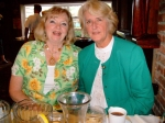 Janice Johns MacDougall and Lynda Mayer Fenwick(class of '56) enjoying the party