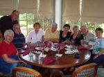 On March 4, 2008 five classmates and spouses met for dinner at Glenview Country Club in The Villages, FL. From left: Hil
