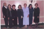 Girls' Club of Class of '57 (photo taken 2006} from left to right-Marion Douma, Carol Winschuh,  Sandy DiLoreta, Dot D